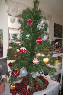 Christmas Tree with Homemade Ornaments