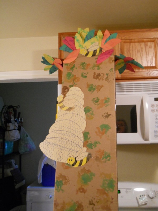 Completed top half of tree.