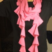 Recycled Pink T-shirt Scarf