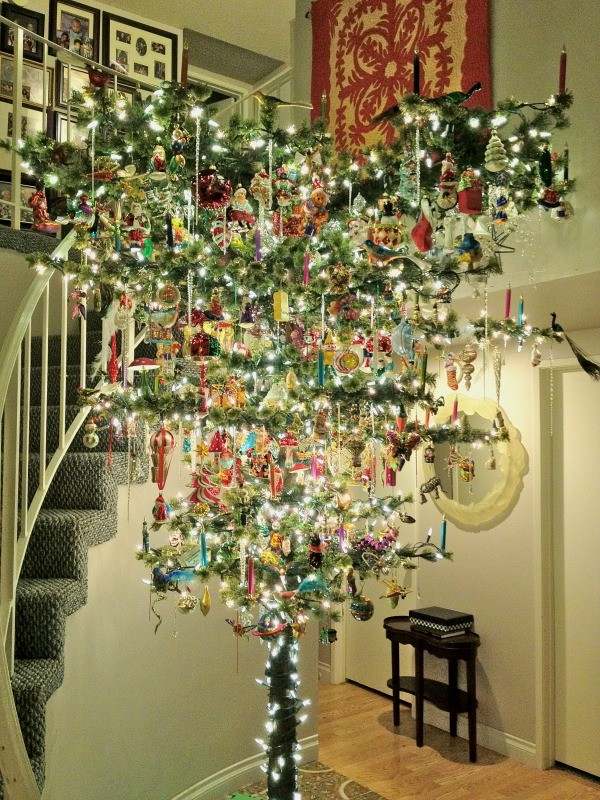 beautifully decorated upside down christmas tree - Upside Down Christmas Tree Decorated
