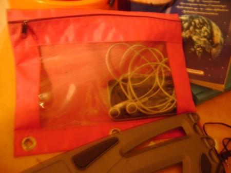 Ipodin orange notebook pencil holder