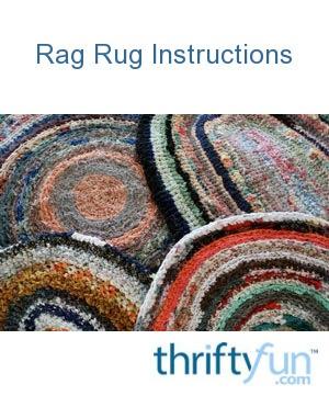 Rag Rug Instructions   ThriftyFun