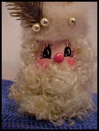 Closeup of finished Santa face.