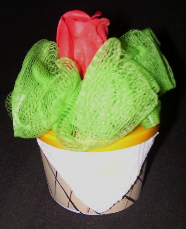 Completed cone gift.