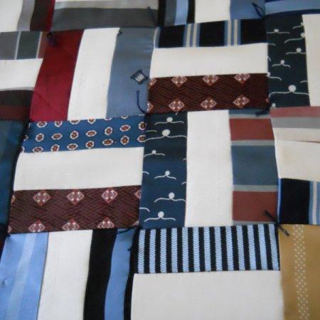 Necktie keepsake quilt.