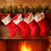 Stockings hung by a Fire