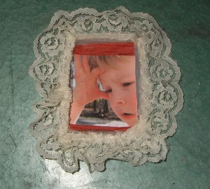 Plastic Lid Photo Ornament