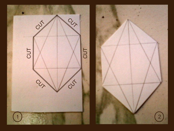 Drawing with cut lines marked.