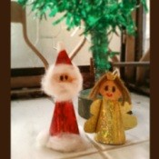 Santa and Angel Ornament Finished