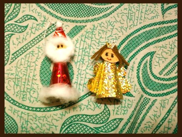Santa and Angel Ornament