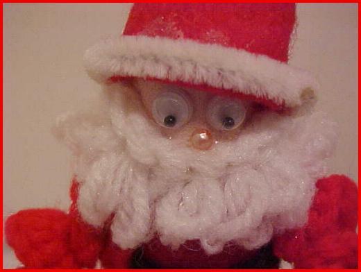 Closeup of Santa face.