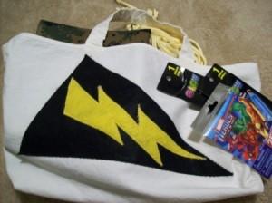 Super hero tent kit ina bag.