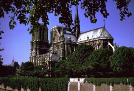 Notre Dame from a distance.