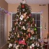 Rotating Christmas tree Decorated with Ornaments