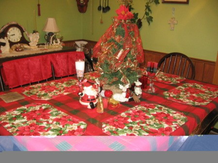 View of the tablescape from a distance.