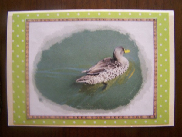 Card 1 of the completed set.