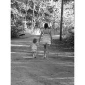 Woman and Child Walking hand in hand