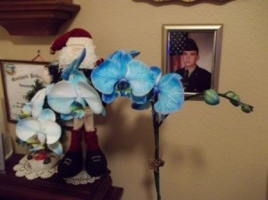 Blue Orchid Close up
