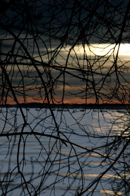 Winter Sunset on Lake Lida Minnesota