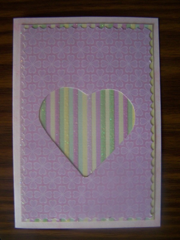 Hugs and Kisses Valentines Card Step 3