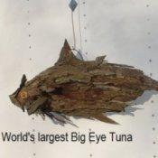 square version of tuna sculpture