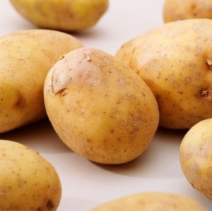 Freezing Potatoes, Potatoes on white background