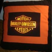 Harley Davidson T-shirt Pillow