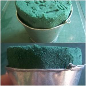 Foam cut and fitted inside bucket.