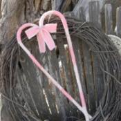 Finished heart on vine wreath.