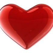 A red heart for Valentine's Day