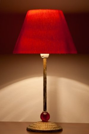 Uses for an Old Lamp, Old Lamp with Red Shade