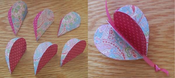 Folder paper 3- D heart.