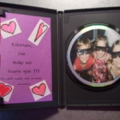 CD Valentine - Inside with message and photo on CD.
