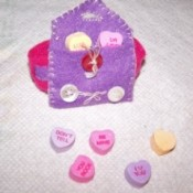 Pink and Purple Valentine wrist band