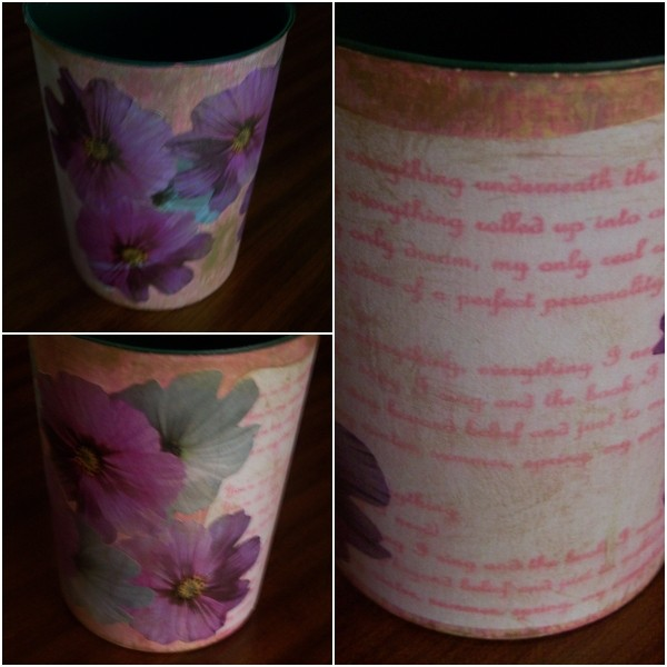 The completed vase from different angles.