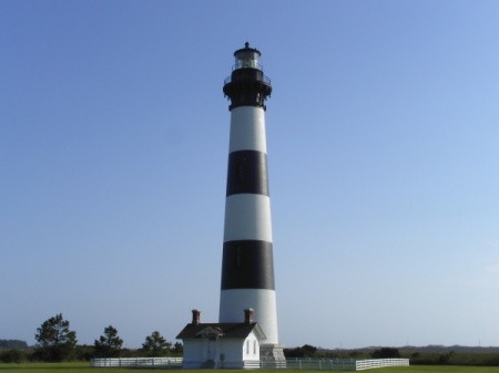 The Bodie Island Lighthouse in Outer Banks, NC.
