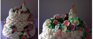 A beautifully decorated cake.