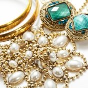 How to Recycle or Repurpose Jewelry, Closeup of Shiny Jewelry