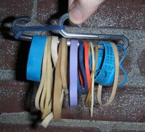 Recycled Rubberband Keeper