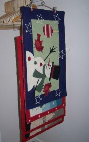 Use Skirt Hanger for Storing Rugs