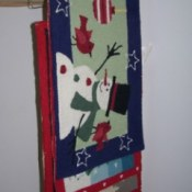 Use Skirt Hanger for Storing Rugs