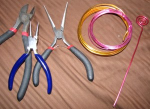 Pliers and an example of spiral.