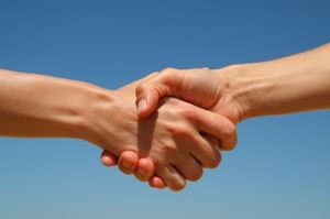 bartering hand shake