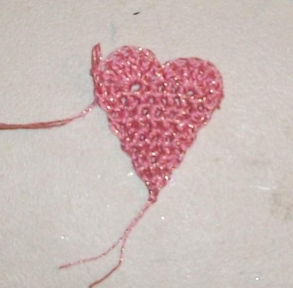Crocheted Heart Angel