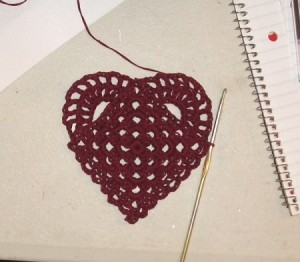Heart shape completed.