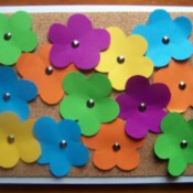 Finished flower card.
