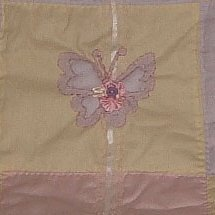 Butterfly baby quilt block.