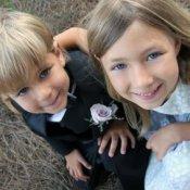 Kids at a wedding.