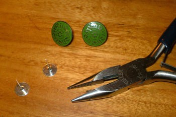Vintage Button Earrings 1