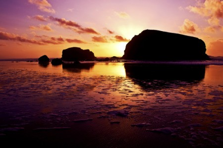 Scenery: Setting Sun (Bandon, OR)